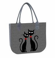 Torba filcowa LADY - Black Cats