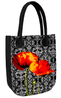 Torba filcowa CITY ANTRACYT Poppies